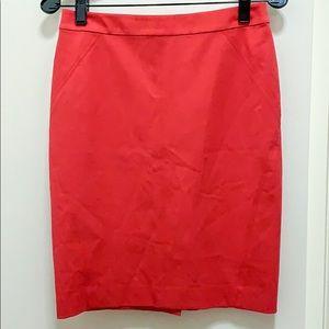 Ann Taylor pink pencil skirt